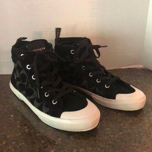 Coach Black Hi-Top Shoes Size 9.5B